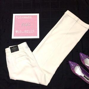 Worthington Modern Fit Wide Leg Dress Pants White